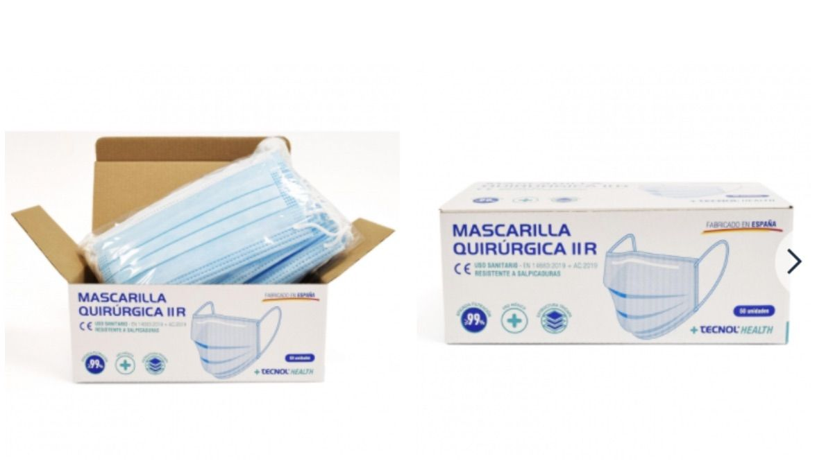 Mascarillas quirúrgicas Carrefour