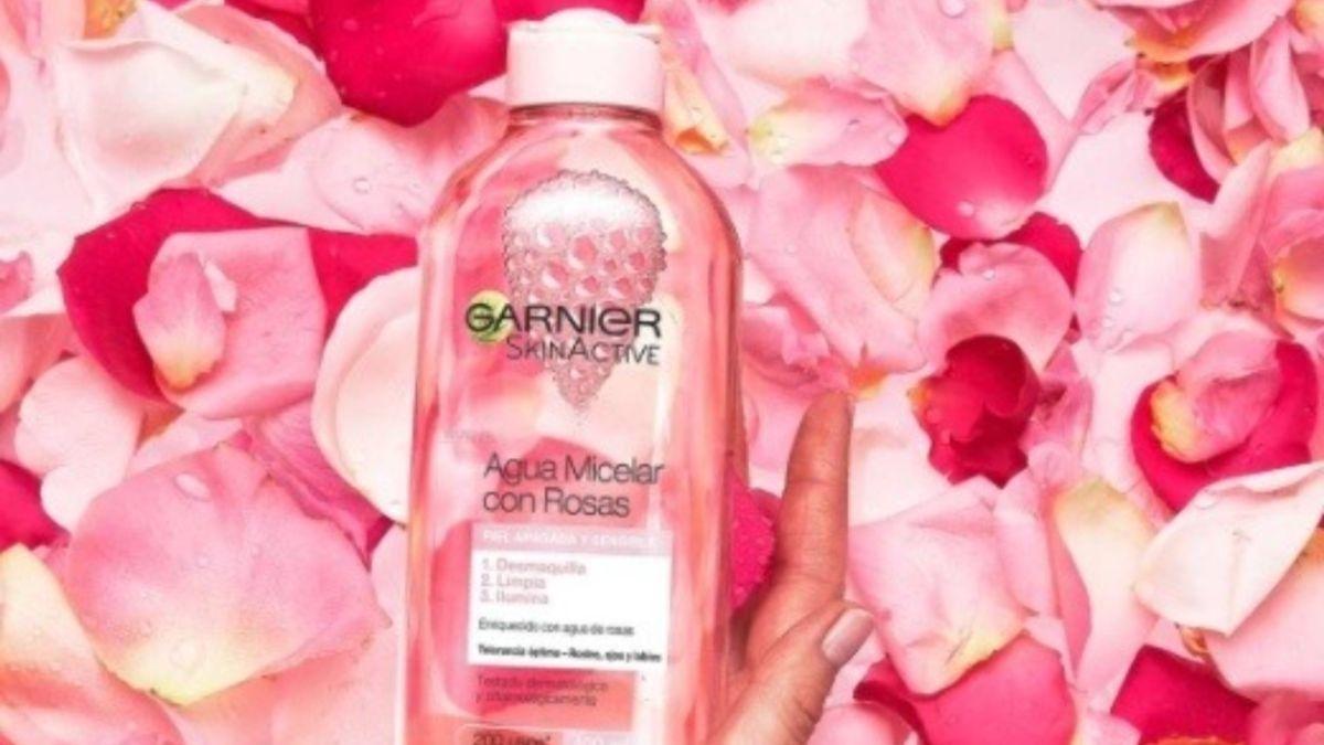 Garnier lanza el nuevo agua micelar con agua de rosas para darle luminosidad al rostro